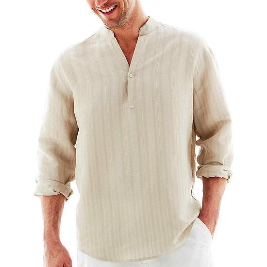 Havanera Mens Long Sleeve Button-Front Shirt