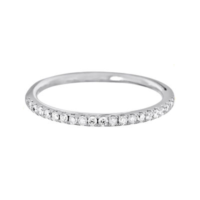 LIMITED QUANTITIES 1/5 CT. T.W. Diamond 14K White Gold Band