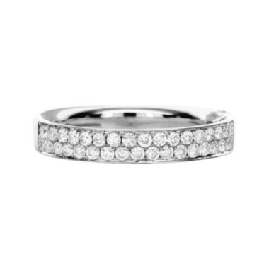 LIMITED QUANTITIES 1/4 CT. T.W. Diamond 14K White Gold Double-Row Ring