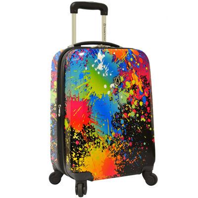 """Traveler's Choice® Paint Splatter 21"""" Carry-On Spinner Luggage"""
