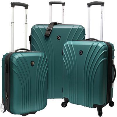 Traveler's Choice® 3-Piece Hardsided Ultra Lightweight Luggage Set