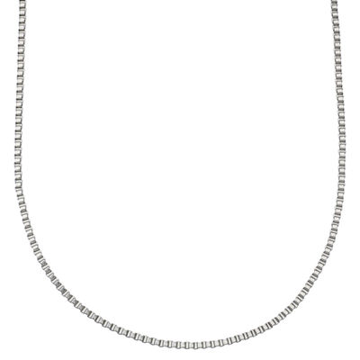 "Stainless Steel 24"" Box Chain Necklace"