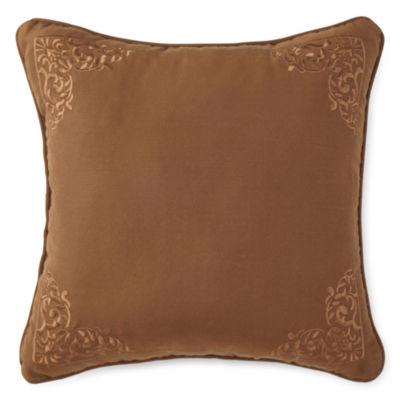 "Royal Velvet® Briarhill 18"" Square Decorative Pillow"