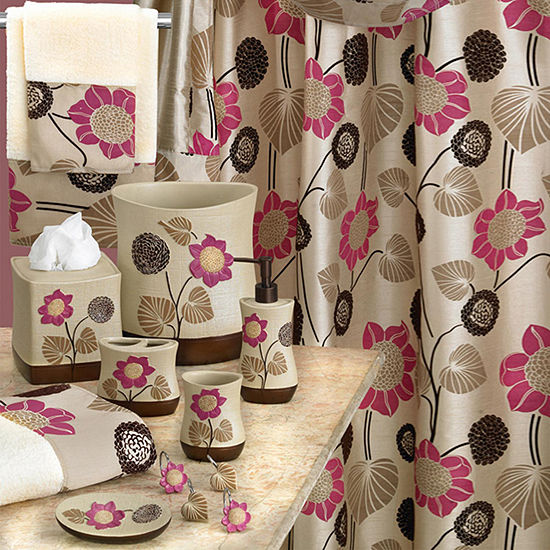 Popular Bath Lillian Floral Beige Bath Collection