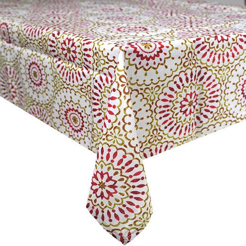 """Homewear Siesta Medallion 60x84"""" Tablecloth"""