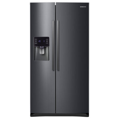Samsung ENERGY STAR® 24.5 cu. ft. Side-by-Side Refrigerator in Black Stainless Steel