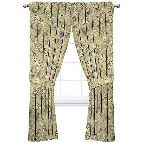 Waverly Light-Filtering Rod-Pocket Single Curtain Panel