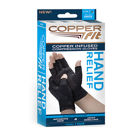 As Seen on TV Copper Fit Hand Relief Muscle & Joint Support Compression Gloves