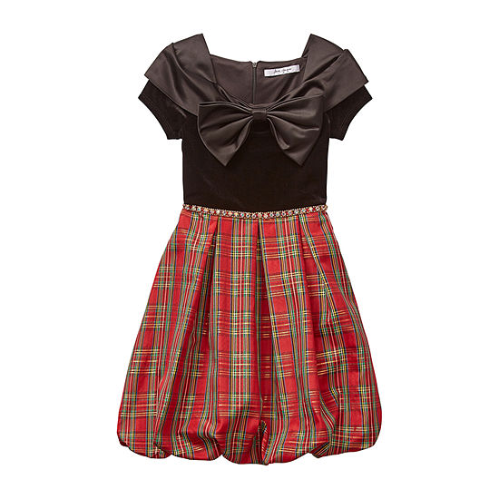 Knit Works Big Girls Short Sleeve Cap Sleeve Skater Dress