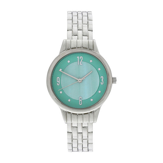 Mixit Womens Silver Tone Bangle Watch-Wac4408jc