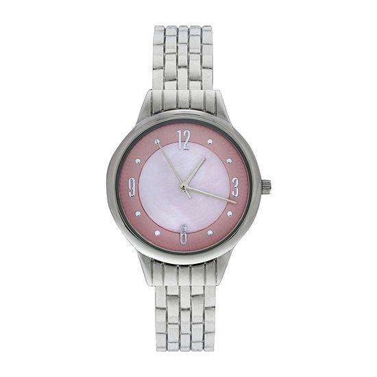 Mixit Womens Silver Tone Bangle Watch Wac4409jc