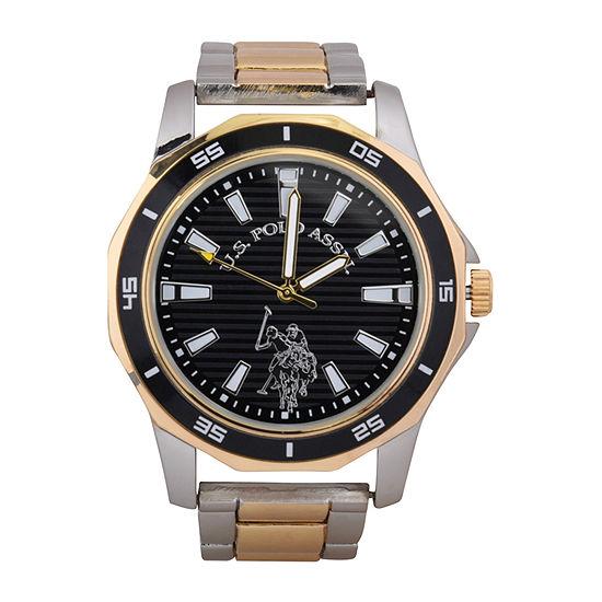 U.S. Polo Assn. Mens Two Tone Bracelet Watch Usc80474jc