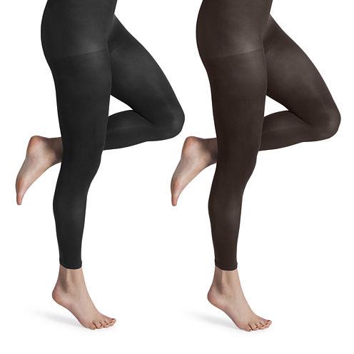 MUK LUKS® 2-pk. Microfiber Footless Tights
