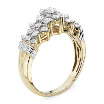 1 CT. T.W. Diamond 10K Two-Tone Gold Pyramid Ring