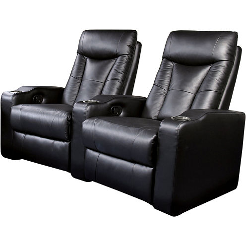 Dallas 2-pc. Home Theater Faux-Leather Reclining Sofa Set