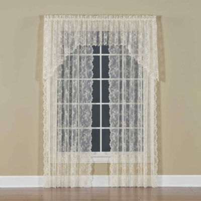 Petite Fleur Rod-Pocket Curtain Panel