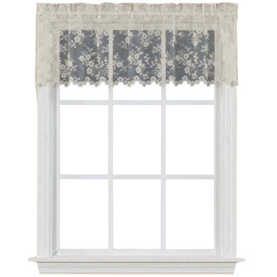 Petite Fleur Rod-Pocket Tailored Valance