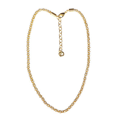 Gloria Vanderbilt® Gold-Tone Crystal Mesh Chain Necklace