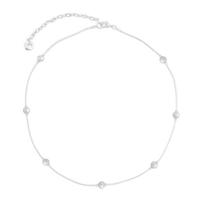 Gloria Vanderbilt® Silver-Tone Snake Chainball Necklace