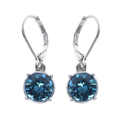 Gloria Vanderbilt® Blue Crystal Silver-Tone Drop Earrings