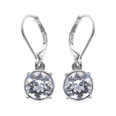Gloria Vanderbilt® Crystal Silver-Tone Drop Earrings