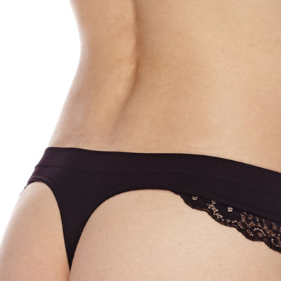 Ambrielle® Seamless Lace Thong Panties