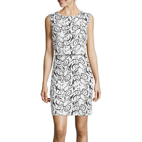 Scarlett Sleeveless Glitter-Print Blouson Dress