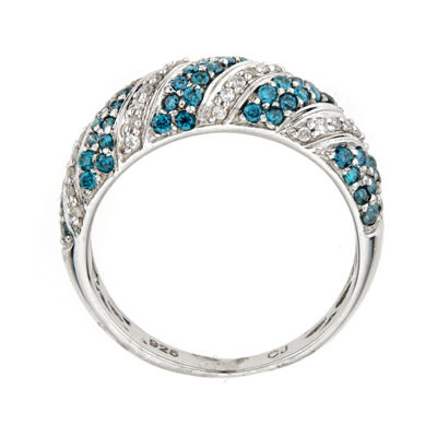 LIMITED QUANTITIES Color-Enhanced Blue Diamond Sterling Silver Ring