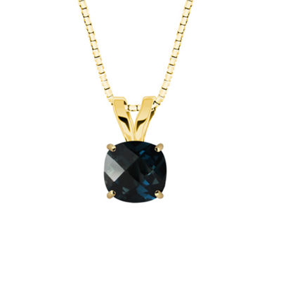 London Blue Topaz 10K Yellow Gold Pendant Necklace