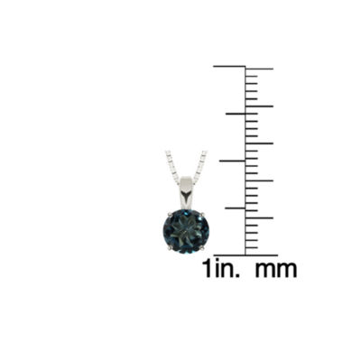 London Blue Topaz Sterling Silver Pendant Necklace