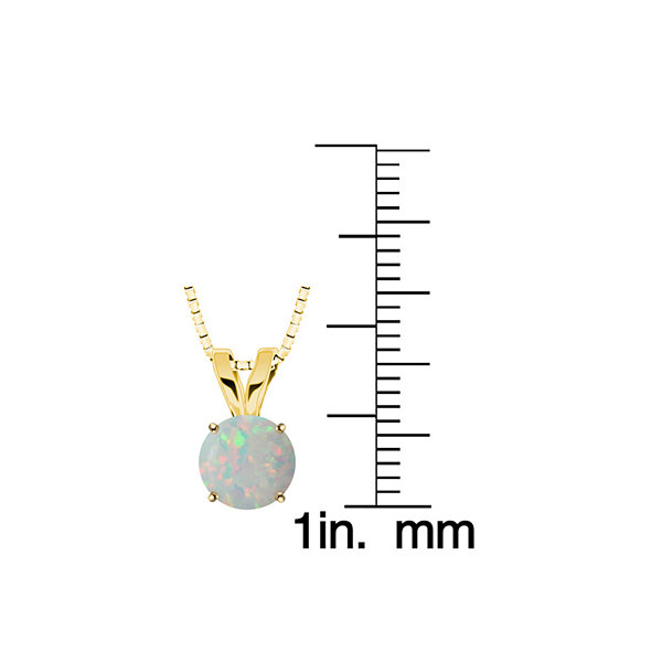 Lab-Created Opal 10K Yellow Gold Pendant Necklace
