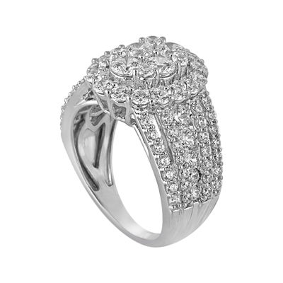 3 CT. T.W. Diamond 14K White Gold Engagement Ring