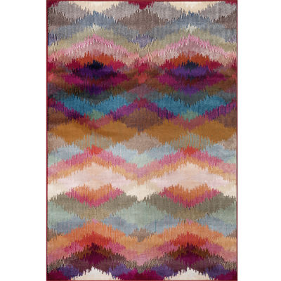 World Rug Gallery Loft Chevron Rectangular Rug