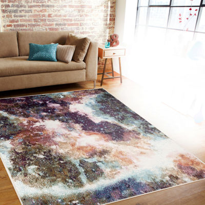 World Rug Gallery Loft Galaxy Rectangular Area Rug