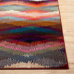 World Rug Gallery Distressed Chevron Rectangular Rugs