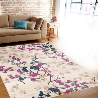 "Loft Blossoms 3'3""x5' Rectangle Rug"