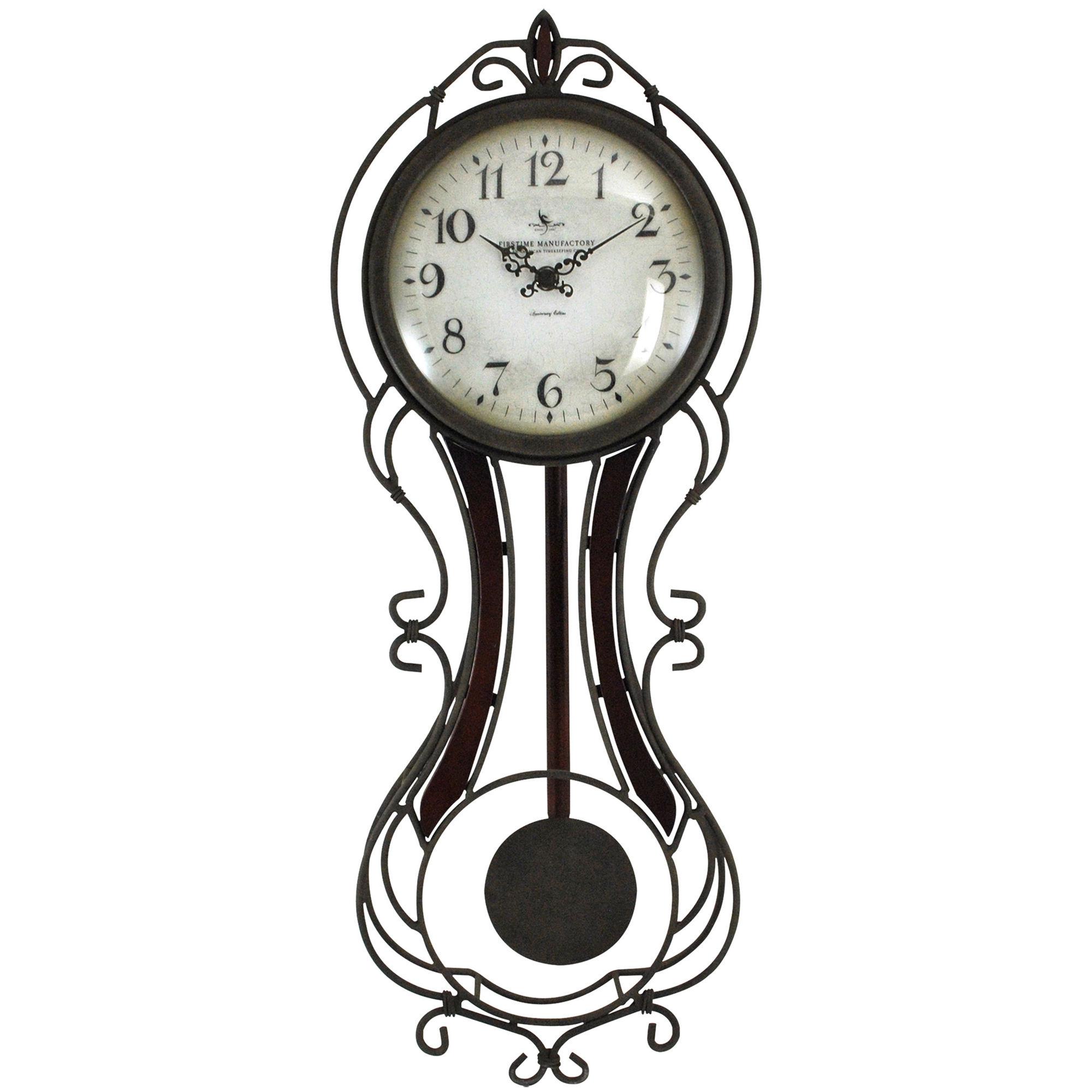 UPC FirsTime Fleur De Lis Wall Clock