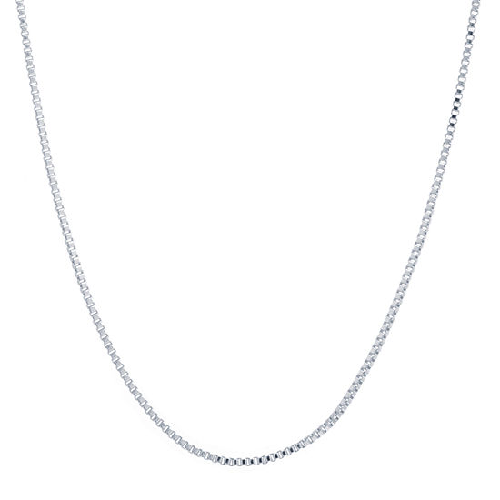 "18"" Silver-Plated Box Chain"