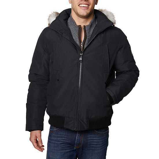 Halitech Faux Fur Hooded Heavyweight Puffer Jacket