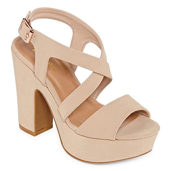 Bamboo Womens Sandbar 74s Heeled Sandals