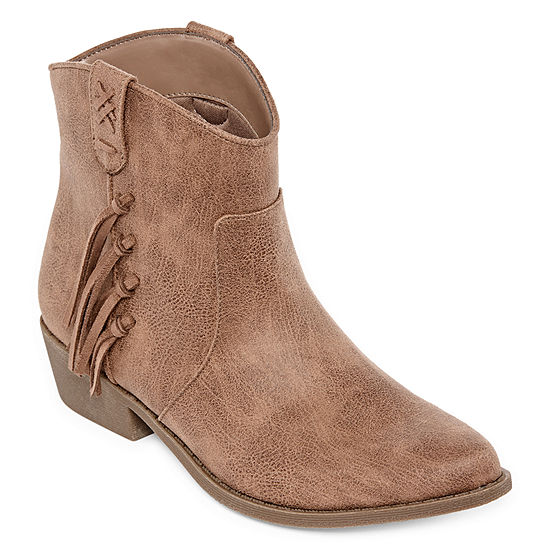 Arizona Womens Mocha Booties Block Heel