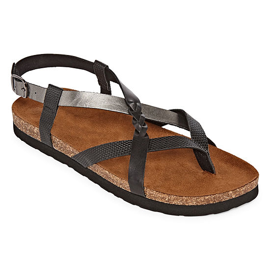 Arizona Naxos Womens Adjustable Strap Footbed Sandals