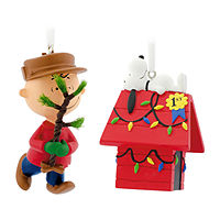 Deals on Hallmark Peanuts Charlie Brown And Snoopy Christmas Ornament