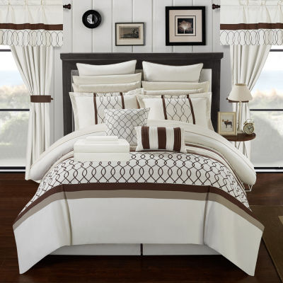 Chic Home Dinah 24-pc. Midweight Embroidered Comforter Set