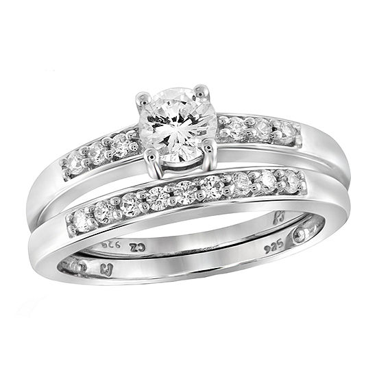 Womens 1 1/7 CT. T.W. White Cubic Zirconia Sterling Silver Engagement Ring