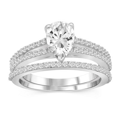 Womens 1 1/2 CT. T.W. White Cubic Zirconia Engagement Ring