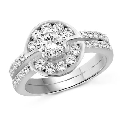 Womens 1 3/4 CT. T.W. White Cubic Zirconia Engagement Ring