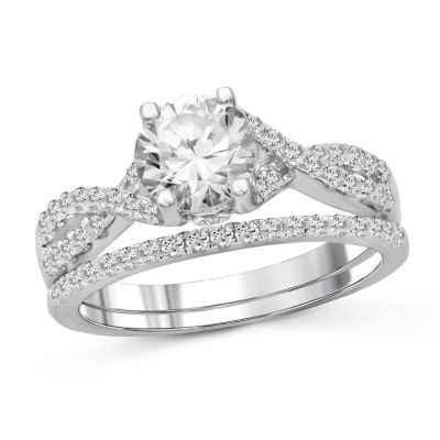 Womens 2 3/4 CT. T.W. White Cubic Zirconia Engagement Ring
