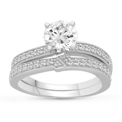 Womens 2 1/2 CT. T.W. White Cubic Zirconia Engagement Ring