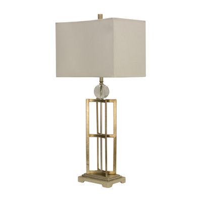 Stylecraft 16 W Silver Leaf Metal Table Lamp